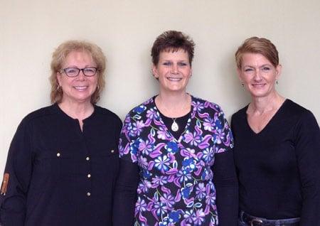 Margie Bischof, Kelly Smyers, Barbara Nieweld